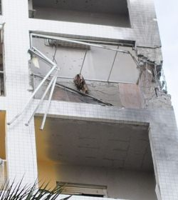 A building damaged by Hamas rocket fire (Photo: IDF).