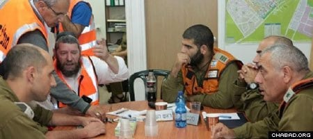 Chabad leaders meeting with IDF soldiers