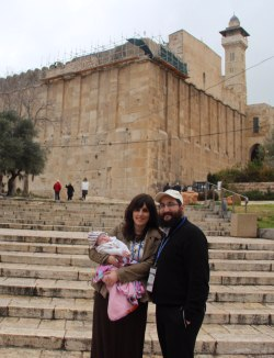 Mina and Avi Richler at the Cave of the Patriarchs in Hebron.