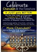Chanukah @ the  Foreshore & more