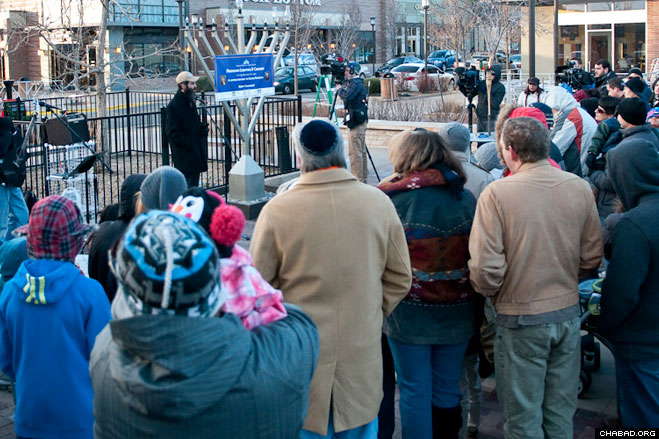 Westminster: The menorah lighting in Westminster, Colo., included a memorial for Jessica Ridgeway, a ten-year-old girl who was abducted and killed earlier this year.