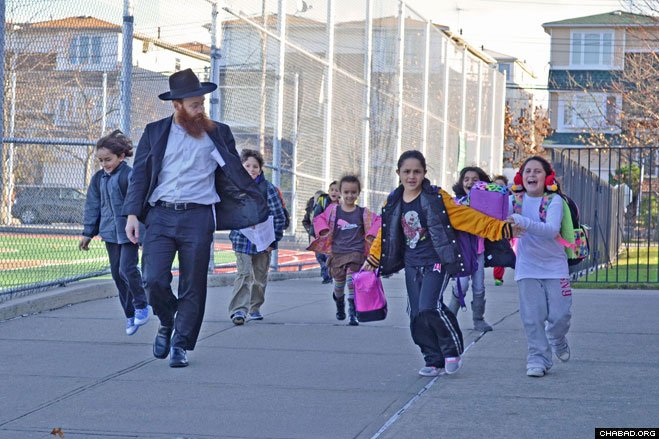 More than 800 families and thousands of children in the New York area were visited at their homes during Chanukah week for fun and inspiration by instructors from the Released Time program, run by the National Committee for Furtherance of Jewish Education (NCFJE).