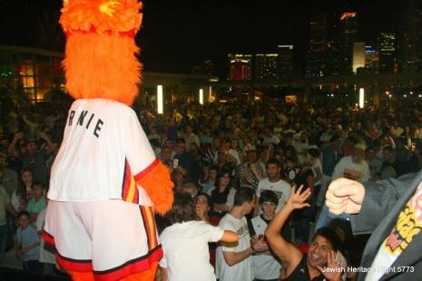 Burnie & over 5000 JHN Fans enjoying Half Time Chanukah Celebration.jpg