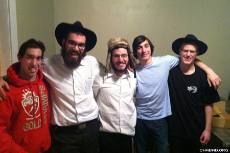 Jewish students at Banff Hockey Acadeny.