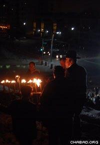 The menorah inspired many residents in hard-hit communities.
