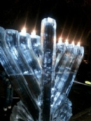 Chanukah Ice Menorah 2012