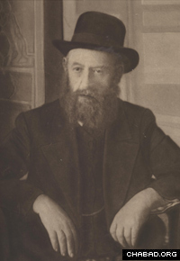 Rabbi Shalom Dovber Schneersohn, known as the Rebbe Rashab. (Photo: Agudas Chasidei Chabad Library/Lubavitch Archives)