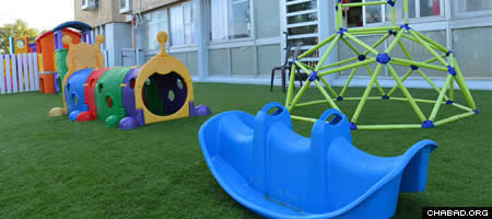 The new day-care center in Kfar Chabad.