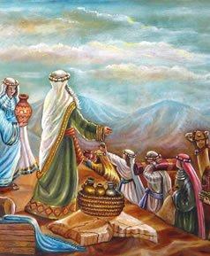 בני ישראל תורמים לבניית המשכן. © אהובה קליין