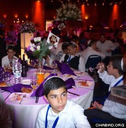 The Bar Mitzvah boys celebrated at a grand party at the International Convention Center in Jerusalem. (Photo: J.J. Gross)