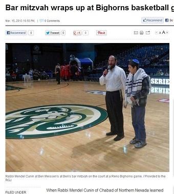Bar mitzvah wraps up at Bighorns basketball game _ Reno