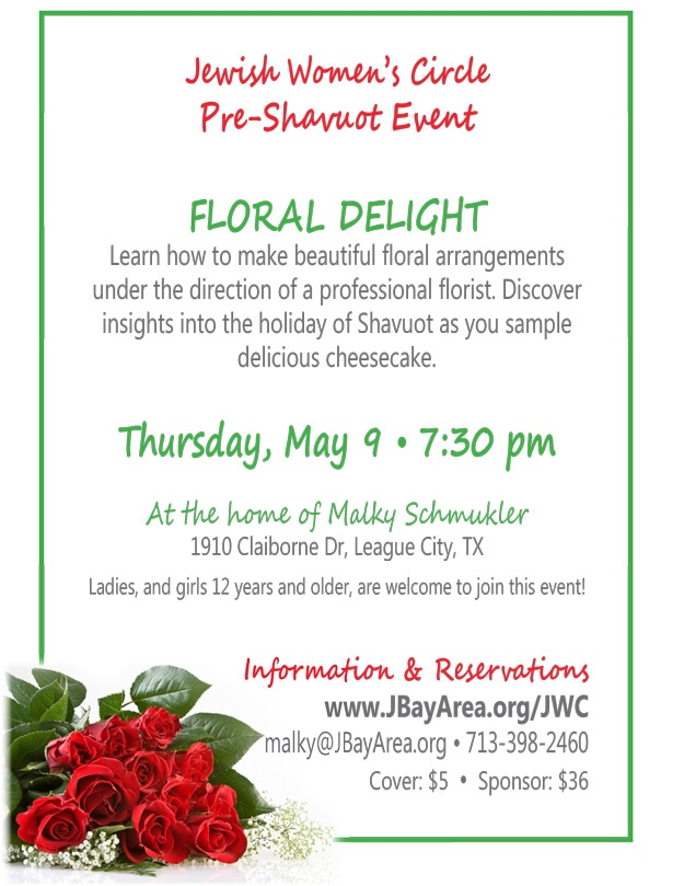 Jewish Women's Circle - Pre Shavuot Event - Click to RSVP