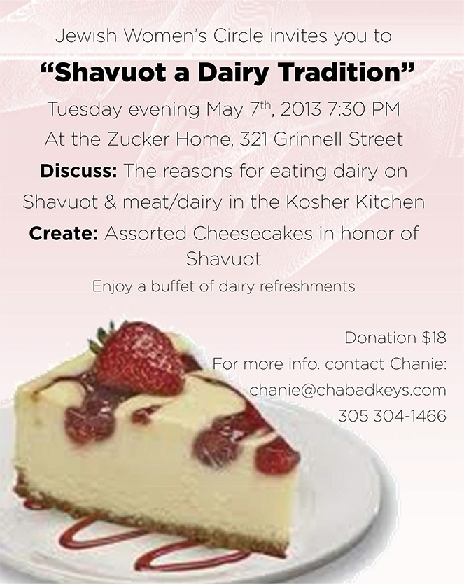 Shavuot A Dairy Tradition.