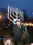 Giant Menorah Lighting at Latham Park