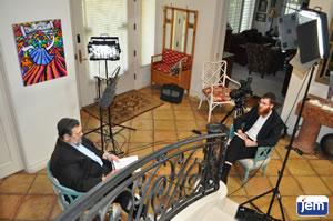 Dr. Leonard Lovitch being interviewed by JEM