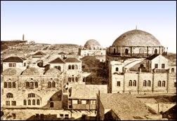 """בית הכנסת """"החורבה"""" בסוף המאה ה-19"""