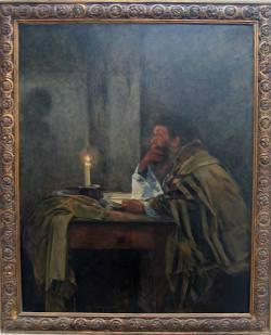המתפלל האחרון (1897) מאת שמואל הירשנברג, אוסף המשכן לאמנות, עין חרוד