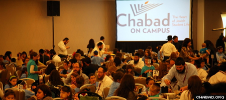 The Chabad on Campus annual conference brought together more than 800 men, women and children from emissary families serving campuses around the world. (Photo: Bentzi Sasson for Chabad.edu)
