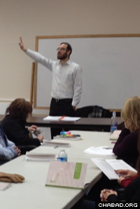 Rabbi Avrohom Rapoport's Torah Studies classes take place at a rotation of public libraries in southern New Jersey.