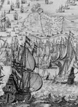 Detail: The Capture of Cadiz 1596