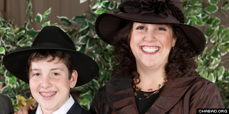 Marcy Lawton and her son Ryan will attend Chabad @ Flamingo in Ontario, Canada, on Yom Kippur. They got involved after Ryan started taking classes through the Jewish Russian Community Centre, offered after school. He now attends yeshivah.