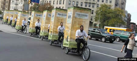 Mobile sukkahs are becoming a more familiar sight on city streets.