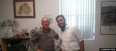 Wayne Sosin, president of Worksman Cycles, with Levi Duchman