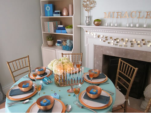 Throw a beautiful chanukah party for Hanukkah home decorations