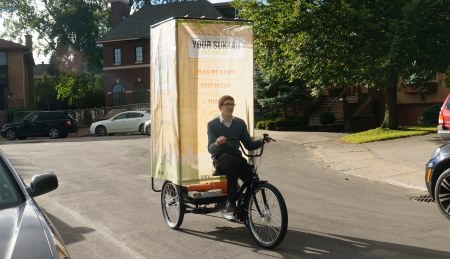 As Sukkot came closer, there have been a number of these pedi-sukkahs cruising around town.