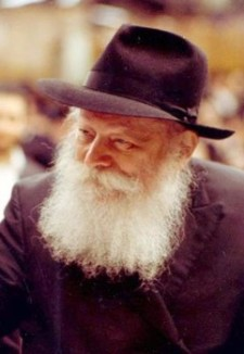 The seventh Chabad Rebbe, R. Menachem Mendel Schneerson. 