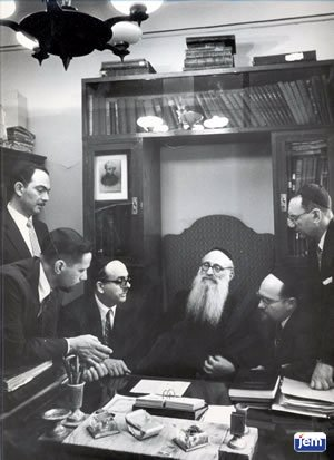 David Hollander (third from left) on a trip to Russia in the late 1950's
