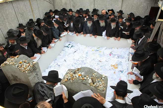 During the Rebbe's lifetime, he would frequent the Ohel, which is also the resting place of his father-in-law, the sixth Lubavitcher Rebbe, Rabbi Yosef Yitzchak Schneersohn, of righteous memory. He would go two, three, four and sometimes even six times a week, bringing people's troubles and prayer requests to the holy site. (Photo: Photo: Meir Alfasi / Chabad.org)