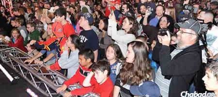 """Jewish Heritage Night will be celebrated again this year with fans at sports arenas around the nation, as with last year's """"Chanukah on Ice"""" program, above, with the NHL's Florida Panthers."""