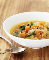 Carrot, Quinoa & Spinach Soup