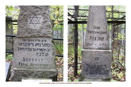 МОГИЛЫ ИЗВЕСТНЫХ ХАСИДОВ НА СЕВЕРНОМ ЕВРЕЙСКОМ КЛАДБИЩЕ