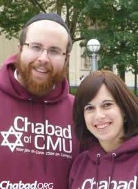 Rabbi Shlomo and Chani Silverman, co-directors of Chabad of Carnegie Mellon University