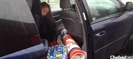 Brittney Nadler delivered bottled water and other essential supplies.