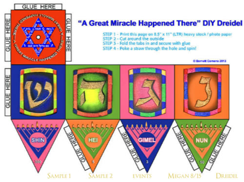 Make Your Own Dreidel Children S Crafts Jewish Kids