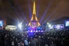 Eiffel Tower Menorah Lights Up the Parisian Night