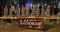Chanuka album 6 - CANorah lighting!