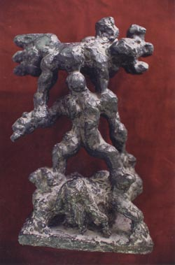 """War"" by Jacques Lipchitz, presented to the Rebbe by the sculptor"
