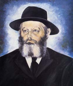 """The Rebbe"" by Checnoch Lieberman. Oil on canvas, 1960's"