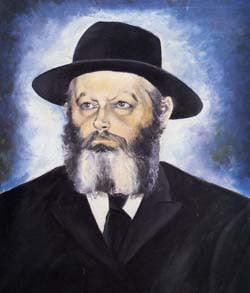 """""""The Rebbe"""" by Checnoch Lieberman. Oil on canvas, 1960's"""
