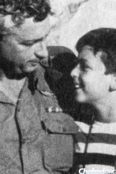 Ariel Sharon with his son Gur