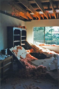 The master bedroom in the author's childhood home in Northridge, California.