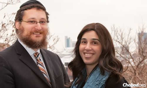 """Rabbi Yisrael and Devorah Pinson, co-directors of Chabad of Greater Downtown Detroit—known locally by its much catchier name, """"Chabad in the D.''"""