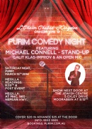 Purim Comedy Night March 15 2014