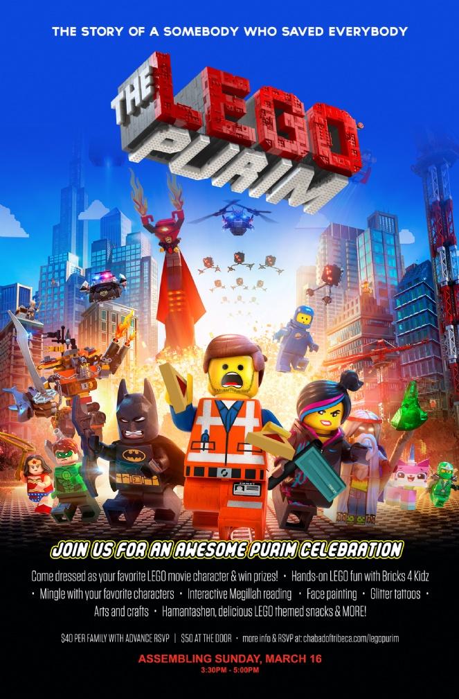 3/16 THE LEGO PURIM - Chabad of Tribeca / SoHo