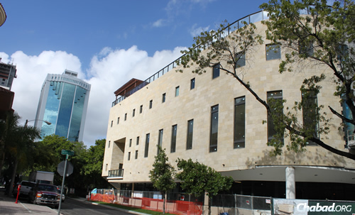 The new Rok Family Shul, Chabad Downtown Jewish Center in Miami offers 20,000 more square feet of space than its former site in an office tower.