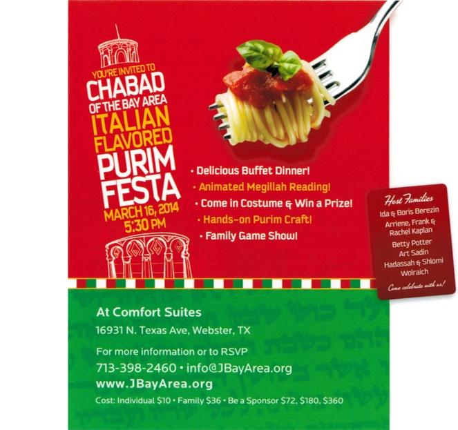 Purim Festa - Event Details